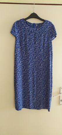 Nowa letnia niebieska ołówkowa sukienka M wzory