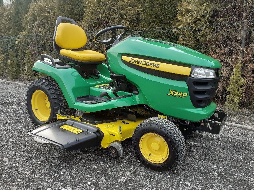 Traktorek Kosiarka John Deere Boczny Wyrzut X540 26KM Kawasaki Hydro