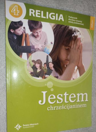 Jestem chrześcijaninem + karta pracy - Religia Klasa 4 - Stan bdb
