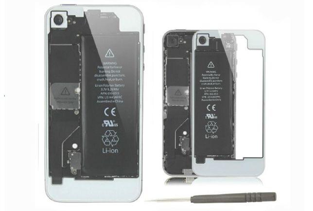 R018 Capa Transparente iPhone 4 Branca + Chave Pentalobe Novo!