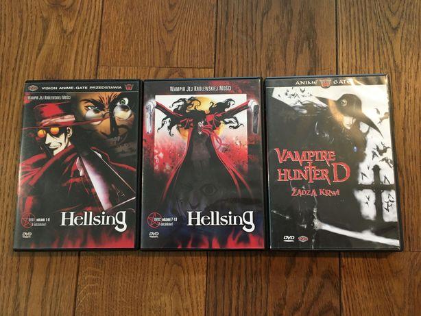 3 Anime DVD Hellsing (1-6 i 7-13), Vampire Hunter D Żądza krwi