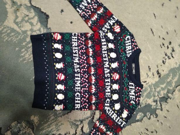 sweter swiateczny na 5- 6 lat
