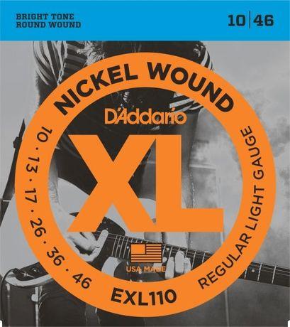Struny do gitary elektrycznej D'Addario XL Nickel Wound EXL110