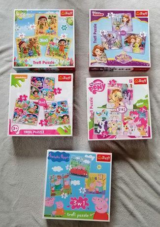 Puzzle Trefl 3w1 Wissper Księżniczka Zosia My Little Pony Świnka Peppa