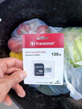 Продам новую карту памяти на 128Gb, Tranccend.
