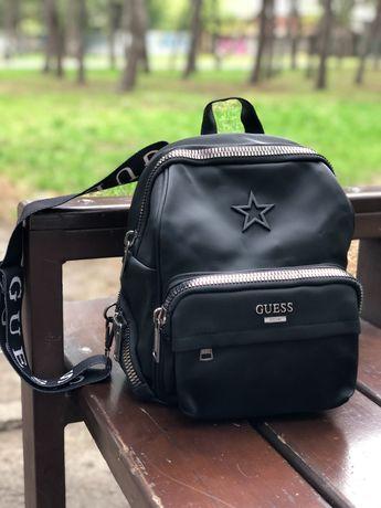 Рюкзак Guess чёрный и коричневый