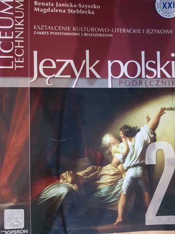 Język polski, podręcznik, część 2, Budna, książka, nauka, liceum
