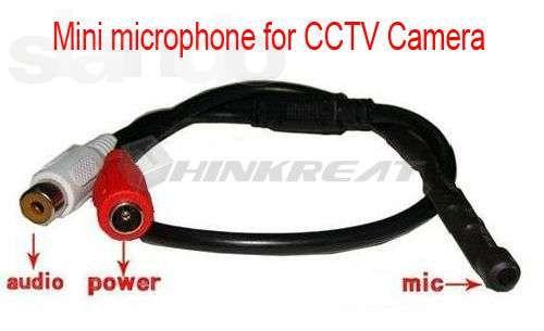 Микрофон для видеорегистратора для CCTV камер видеонаблюдения.