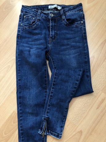 Nowe jeansy rurki spodnie XS 34