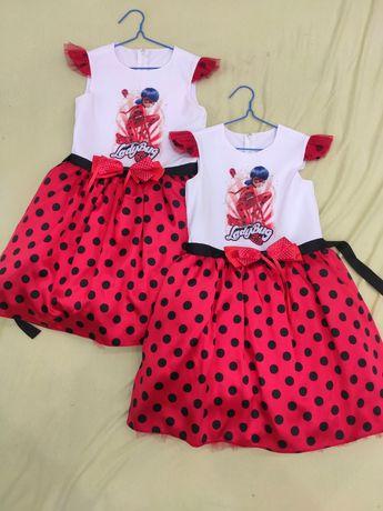 Платье Леди Баг для двойни Lady bug