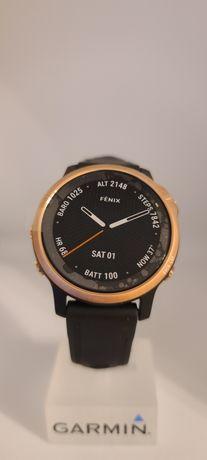 Годинник Garmin Fenix 6S Sapphire чорний Rose Gold з чорним ремінцем