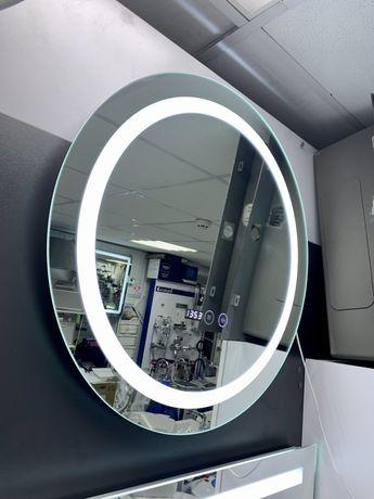 Зеркало для ванной с led подсветкой температурой время