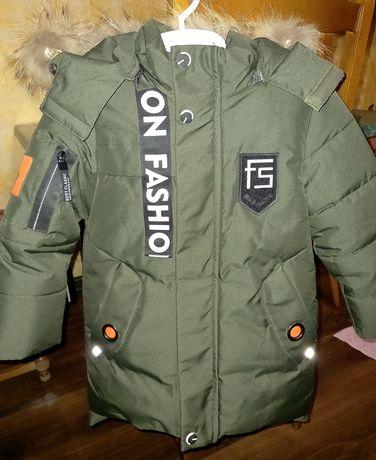 Зимняя детская новая куртка на 5 лет