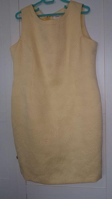 LINEA cytrynowa sukienka r.20