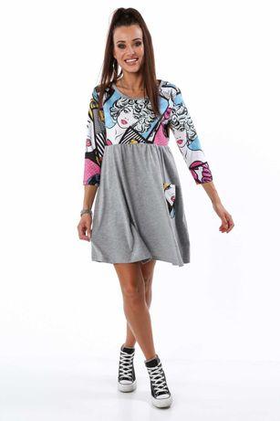 Bawełniana sukienka oversize/ ciążowa Rozmiar uniwersalny Fasardi