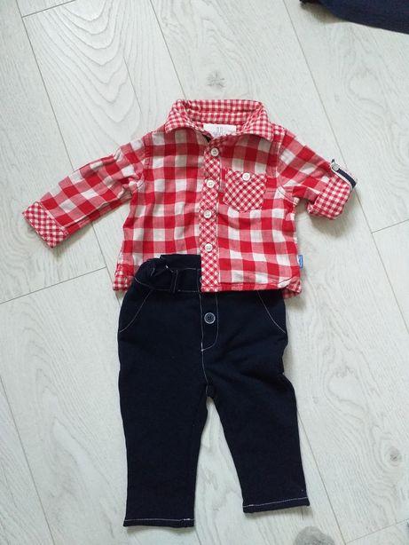 Koszula i spodnie 68