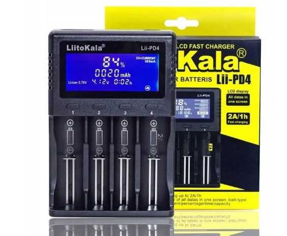 Ładowarka akumulatorów LiitoKala PD4 Li-Ion AA