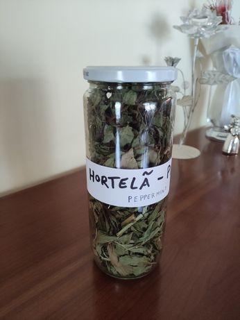 Folhas secas - Hortelã-Pimenta Biológico