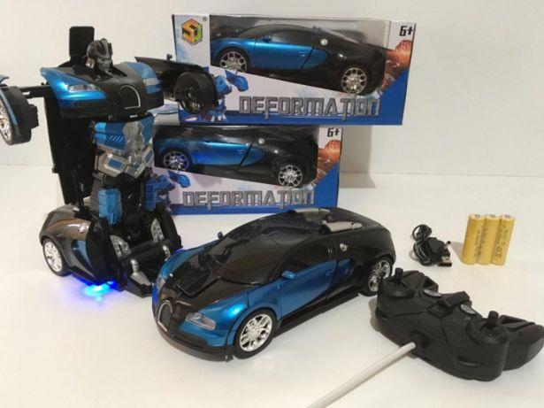 Машинка робот - трансформер на радиоуправлении Bugatti robot car