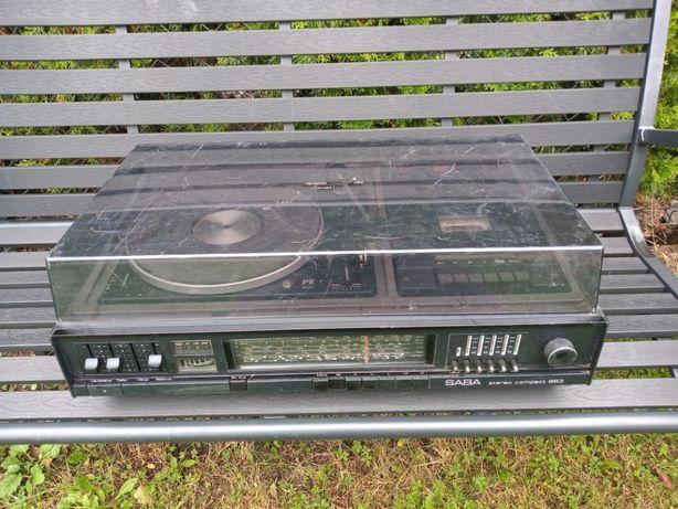 Gramofon magnetofon amplituner Saba 963 Hi-Fi combo radio studio