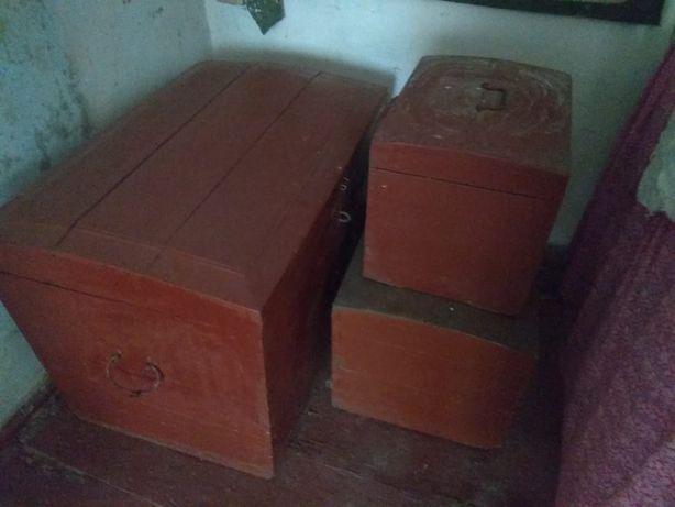 Скриня (сундуки) деревянная старинная, раритет