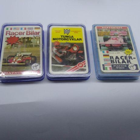 Kolekcja karty kolekcjonerskie z samochodami autami i motory