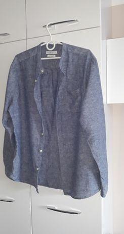 Koszula męska z lnem.