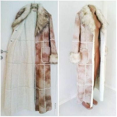 Пальто длинное на меху C&A, 36 размер, наш 42-44, Германия.