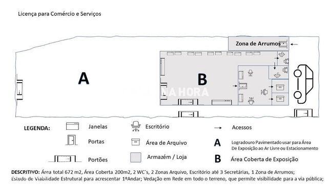 Ótimo Armazém/Loja com Logradouro  Centro de Lourel / Sintra