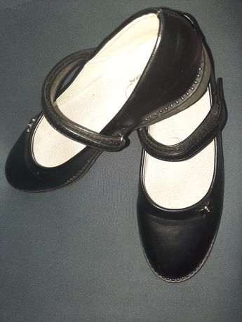 Czarne buciki baletki rozm.36