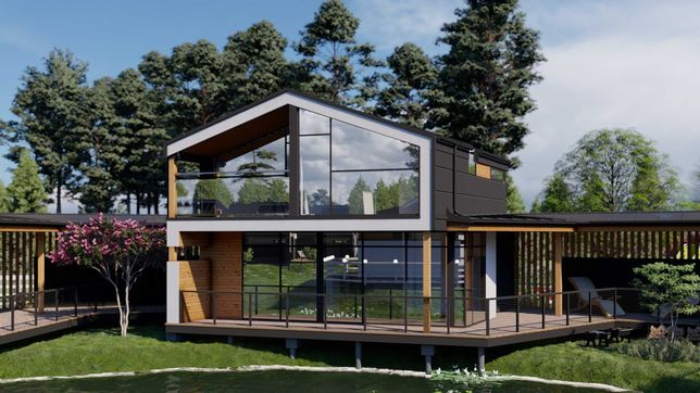 ШАЛЕ NESTER-HOUSE - будинок 75,31 м² у котеджному містечку в с.Світязь