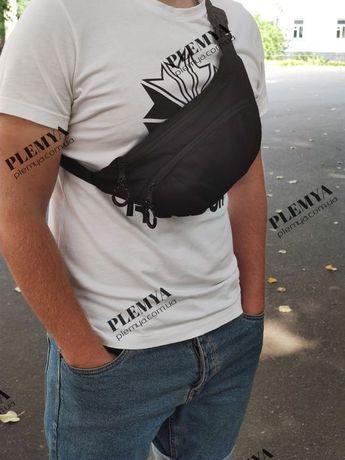 Поясная сумка Nike/ бананка найк /мужская сумка / барсетка черная