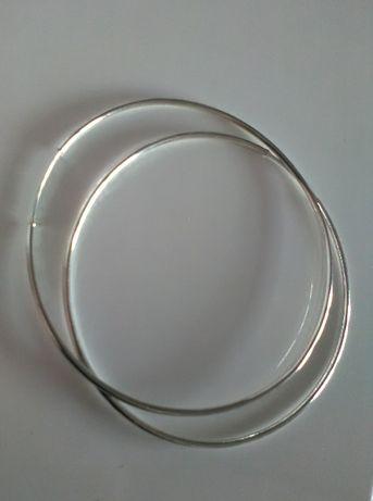 kolczyki srebrne koła pr 925