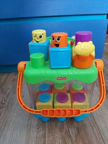 Zabawka fisher price klocki z buźkami