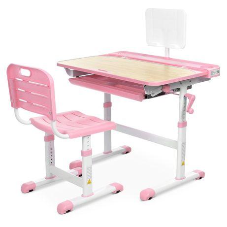 Сучасна дитяча парта трансформер є стілець + у комплекті висувний ящик