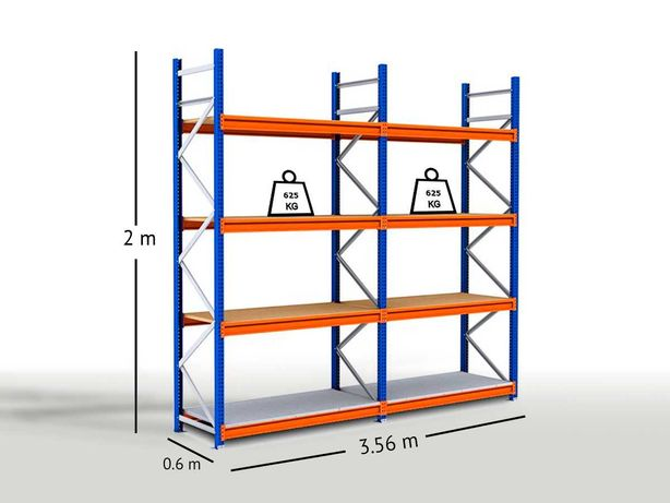 Racks picking com aglomerado- 2 módulos