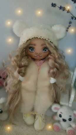 Текстильная куколка, подарок. Куколка ручной работы. Тильда. Лялечки.