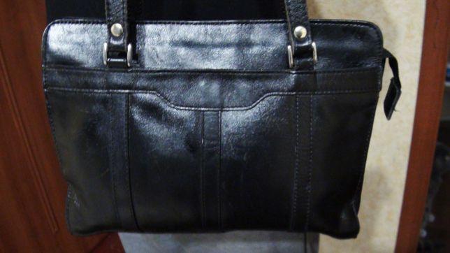 школа кожанный портфель
