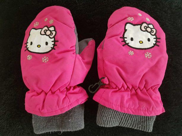 Dziewczęce rękawice jednopalcowe, Hello Kitty, rozm 98-104