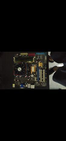 Conjunto placa mãe,CPU e ram