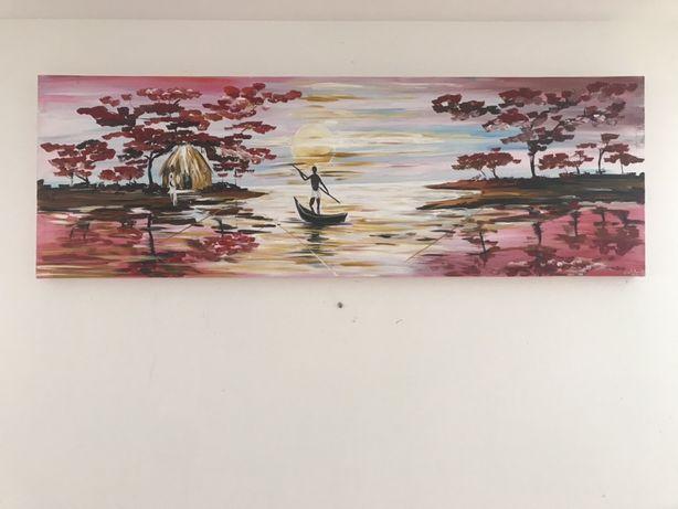 Pintura em acrílico paisagem