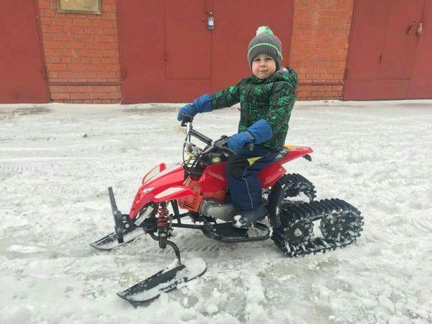 Детский снегоход квадроцикл 3в1