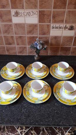 Чайная пара тройка десертная тарелка фарфор
