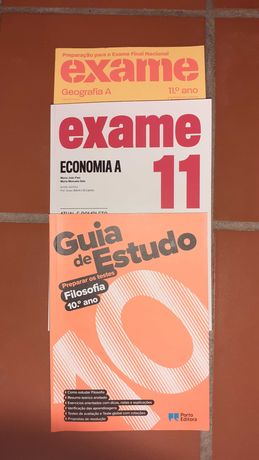 livros de preparação para exames 10º e 11º