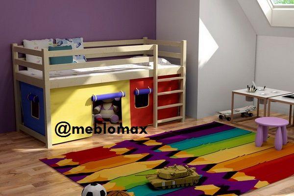 Bezpieczna antresola łóżko łóżka piętrowe sosnowe drewniane dla dzieci