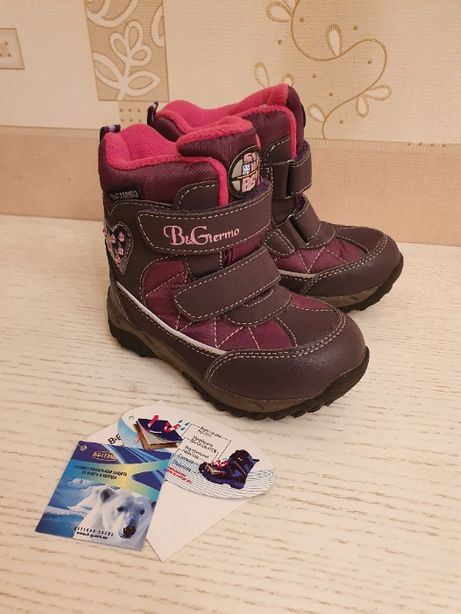 Зимние сапоги B&G termo для девочки р. 24