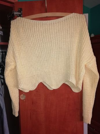Sweter żółty zwiewny top S!