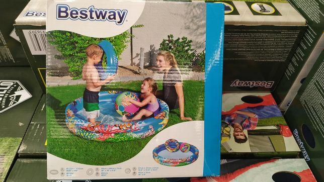Детский бассейн Bestway с кругом и мячом
