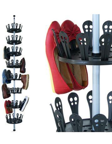 Nowy stojak obrotowy na buty 48 regał teleskopowy szafka do garderoby
