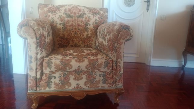 Sofa Poltrona de 1 lugar retro anos 50 em bom estado